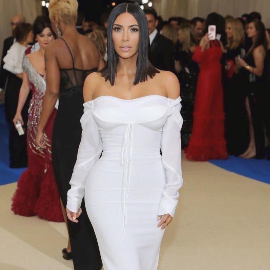 Kim Kardashian attends the 2017 Met Gala