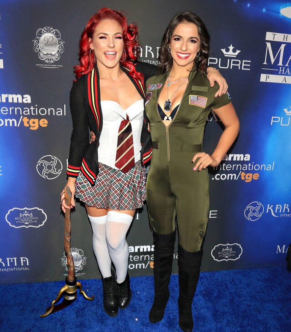 Sharna Burgess and Victoria Arlen Halloween costumes