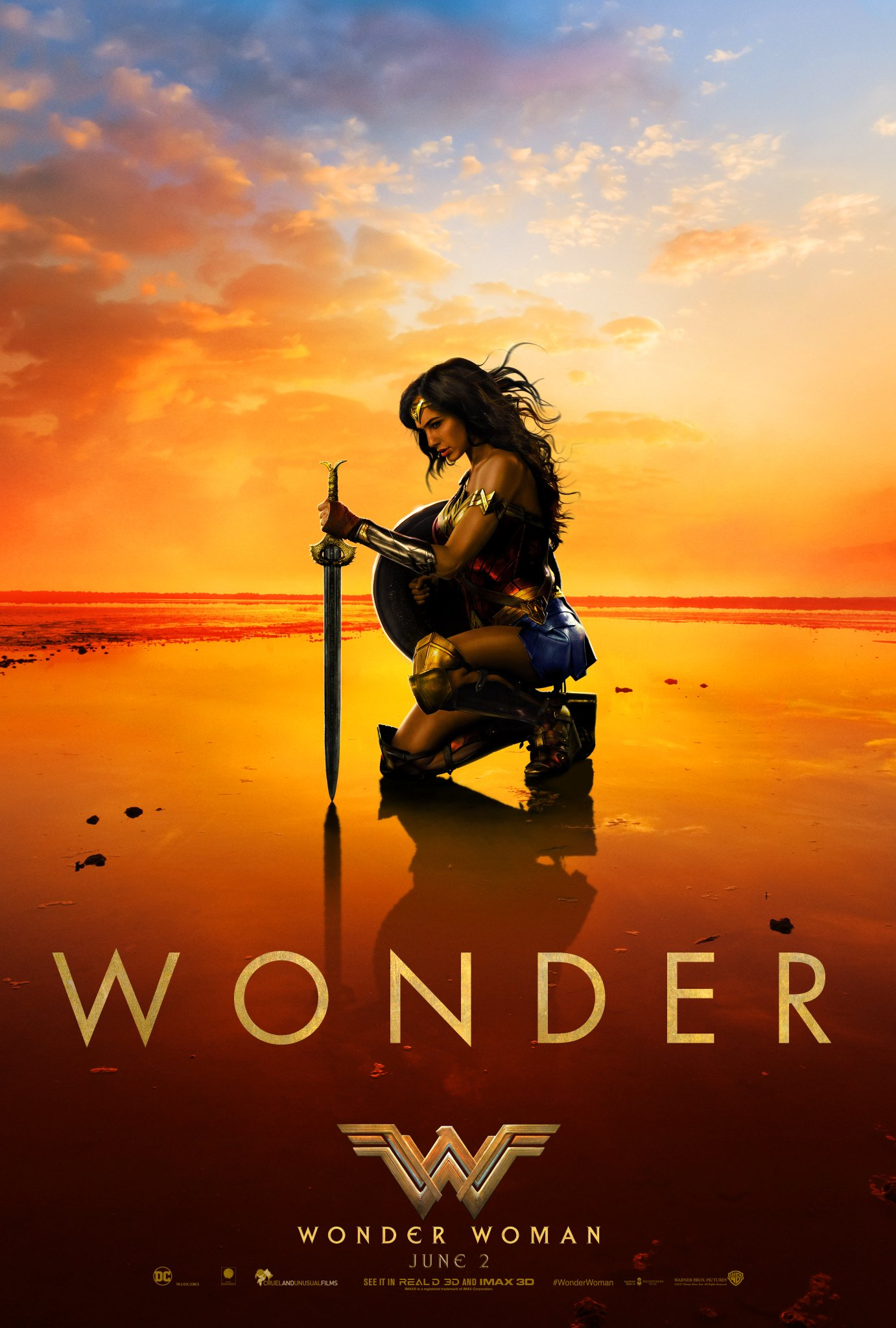 Gal Gadot Shares New Wonder Woman Movie Poster
