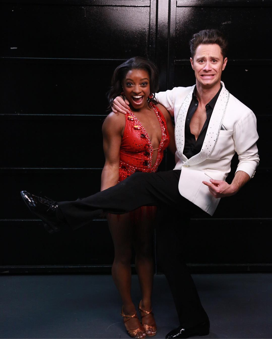 Sasha Farber and Simone Biles