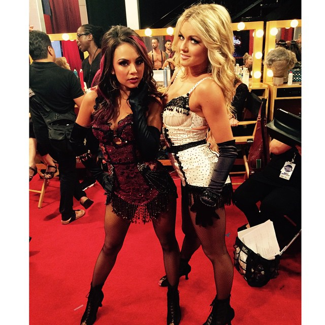 Lindsay Arnold and Janel Parrish