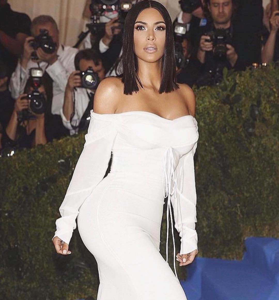 Kim Kardashian attends the 2017 Met Gala