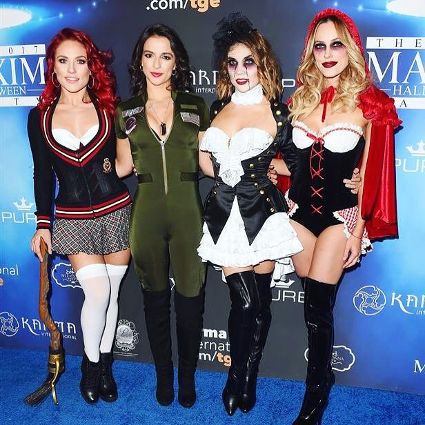 Sharna Burgess, Victoria Arlen, Jenna Johnson and Peta Murgatroyd Halloween