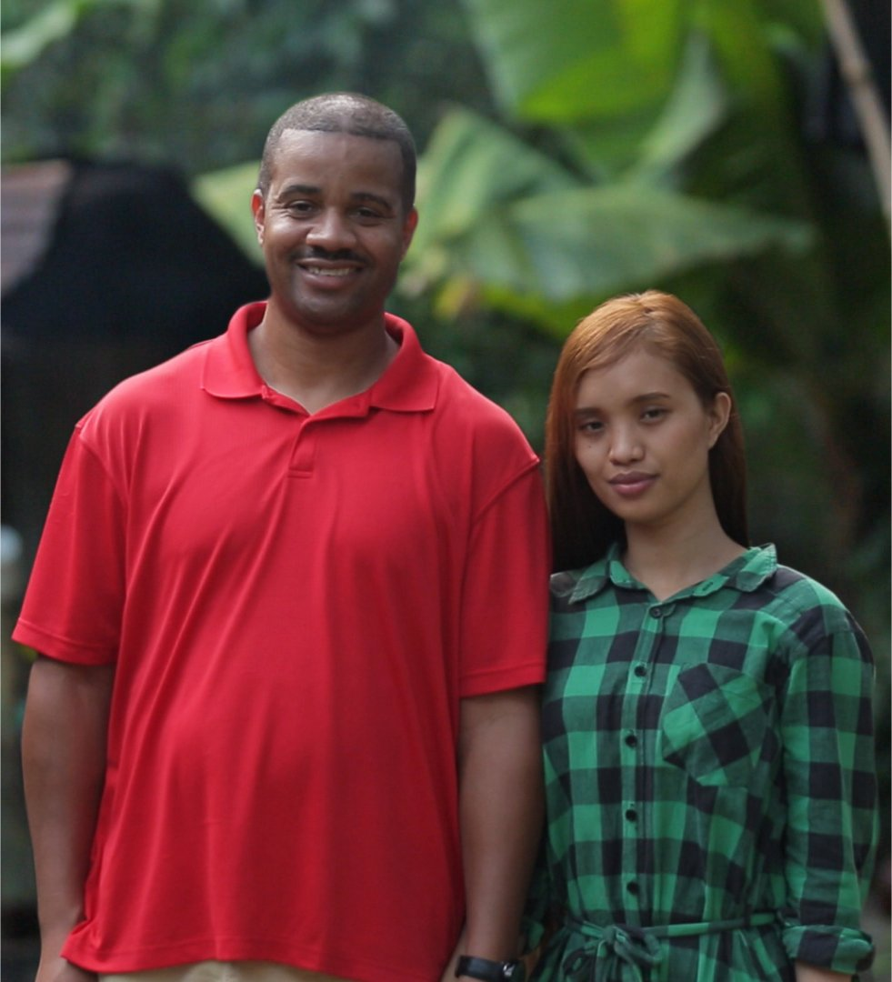 Tarik Myers and Hazel Cagalitan